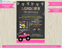 Girl Monster Truck Birthday Party Invitation Invite Monster Truck ... Monster Truck Party Printables Set Birthday By Amandas Parties Invitation In 2018 Brocks First Birthday Invite Car Etsy Fire Invitations Tonka Envelopes Engine Online Novel Concept Designs Jam Free British Decorations Supplies Canada Open A The Rays Paxtons 3rd Party Trucks 1st 2nd 4th Ticket Iron On Blaze And The Machines Baby Shark Song Printable P