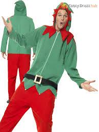 mens elf costume christmas fancy dress santas helper elves