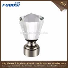 Square Crystal Lamp Finials by Crystal Glass Finials For Curtain Rods Crystal Glass Finials For