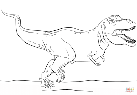 Tyrannosaurus Rex Coloring Page Jurassic Park T Free Printable Pages For Kids