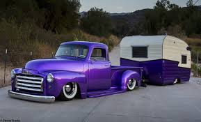 Lowered 1954 GMC Pick Up Truck And Camper | Nice Rides | Pinterest ...