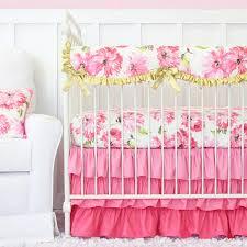 Pink Crib Bedding by Pink Petunia Crib Bedding Set By Caden Lane Rosenberryrooms Com
