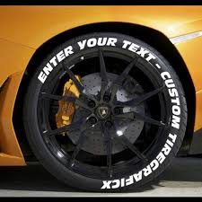 Create Your Own Tire Stickers and Tire Lettering Full Tire Decal
