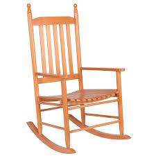 Giantex Wood Outdoor Rocking Chair, Wooden Rocking Chairs For Porch, Patio,  Living Room, Porch Rocker For Adults (Walnut)