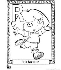 Can Find Free Printable Dora The Explorer Alphabet Coloring Pages R Lot Of Collection To Print And Color