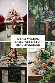 30 Fall Wedding Table Runners For Beautiful Decor - Weddingomania Marry You Me Real Wedding Backyard Fall Sara And Melanies Country Themed Best 25 Boho Wedding Ideas On Pinterest Whimsical 213 Best Images Marriage Events Ideas For A Rustic Babys Breath Centerpieces Assorted Bottles Jars Fall Rustic Backyard Cozy Lighting For A Party By Decorations Diy Autumn Altar Instylecom Budget Chic 319 Bohemian Weddings In Texas With Secret Garden Style Lavender