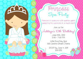 Childrens Pamper Party Invitations Spa Birthday