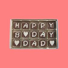 Birthday Gift For Dad Gift Father In Law Gift 50th 60th 70th 80th Birthday Gift Stepfather Fun Idea Father Happy Bday Dad Chocolate Message