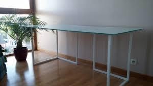 bureau habitat bureau habitat tréteaux plateau en verre vendre com