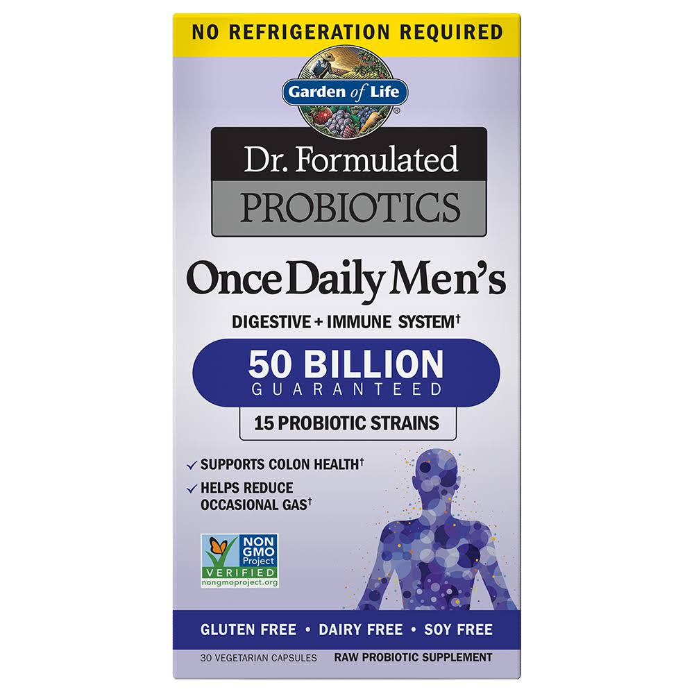 Dr. Formulated Probiotics Once Daily Men's Immune System Support - 30 Capsules