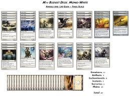 Mtg Red White Deck by M14 Budget Decks Mono White The Tabletop Vector