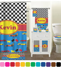 Cars Bathroom by Racing Car Bathroom Accessories Set Personalized Potty Training