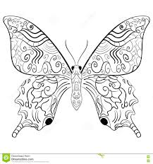 Butterfly Vector IllustrationZentangle Style Stock