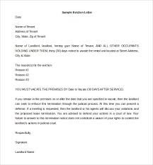 6 Eviction Letter Templates – Free Sample Example Format
