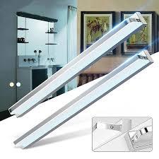 moderne 120 cm 17 watt rechtwinklig stil led acryl wandleuchte badezimmer spiegel licht edelstahl wandleuchte licht fabrik großhandel