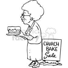 black white women at a church bake sale