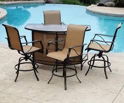 backyard creations somerset 5 piece bar patio set at menards