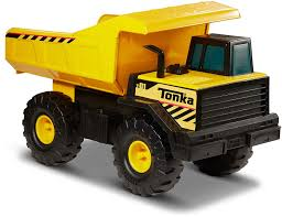 Tonka Kids Dump Truck Vehicle Movable Steel Bed Plastic Wheel Toy ...