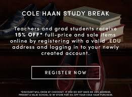Teachers And Grads   Cole Haan Coupon For Cole Haan Juvias Place Coupon Code Vistek Promo Valentain Day 15 Off Vimeo Promo Code Coupons September 2019 Saks Off 5th Coupons And Codes Target Discount Mens Shoes The Luxor Pyramid Army Navy Modells 2018 Nike Free 2 Shipping Google Play Store Cole Outlet Houston Nume Flat Iron Meet Poachit Service That Finds Codes Alton Lane Blink Brow Discount