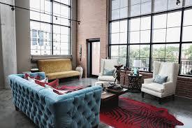 104 Urban Loft Interior Design Modern Ed By Estrada Industrial Living Room Houston By Jon Mcconnell Houzz