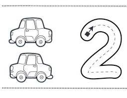 Learning The Number 2 With Sheets Two Coloring Pages 7