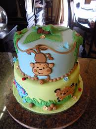 Effective Jungle Theme Baby Shower Cakes Ideas Party XYZ