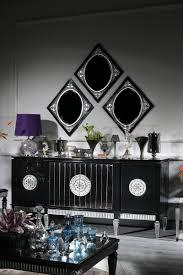casa padrino luxus barock wohnzimmer esszimmer set lila schwarz silber barockmöbel