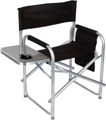 Folding Director's Chair With Aluminum Side Table, Storage Bag And Steel  Tubing - By Trademark Innovations Pnic Time Red Alinum Folding Camping Chair At Lowescom Extra Large Directors Tan Best Choice Products Zero Gravity Recliner Lounge W Canopy Shade And Cup Holder Tray Gray Timber Ridge 2pack Slimfold Beach Tuscanypro Hot Rod Editiontall Heavy Duty Director Side Tray29 Seat Height West Elm Metal Butler Stand Polished Nickel Replacement Drink For Chairs By Your Table Sports Hercules Series 1000 Lb Capacity White Resin With Vinyl Padded