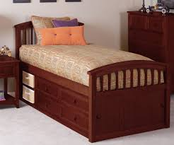 School House Cherry Finish Captains Bed