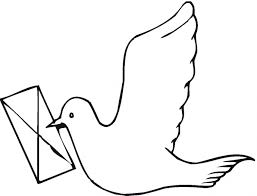 Carrier Pigeon Coloring Page