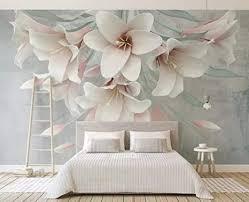 tapete 3d rosa lilie geprägtes modernes wohnzimmer