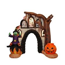 Halloween Inflatable Spider Archway by The Holiday Aisle Halloween Inflatable Haunted House Arch