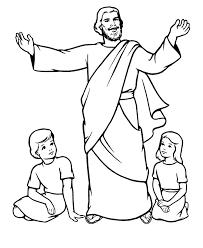 God Jesus Coloring Pages Free Procoloring