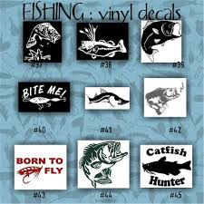 FISHING Vinyl Decals - 37-45 - Car Decal - Vinyl Sticker - Laptop ... 2 Fish Skeleton Decals Car Sticker Fishing Boat Canoe Kayak Rodfather Funny Vancar Jdm Vw Dub Vag Euro Vinyl Decal Tancredy Go Stickers And Bumper Bass Truck Wall Window 1pc High Quality 15179cm Id Rather Be Fly Angler Vinyl Decal Fly Fishing Sticker Ice Hell When Freezes Over Ill Visit To Buy 14684cm Is Good Bruce Pinterest 2018 Styling Daiwa Brand And For Hooked On Outdoor Life Camping