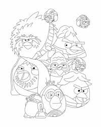 Angry Birds Star Wars Printable Coloring Pages