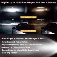 4pcs led hid headlight light bulbs high beam low beam 6000k