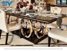 marmor top edelstahl basis moderne türkische möbel esstisch set ct008 buy marmor esstisch marmor esstisch set esstisch product on alibaba