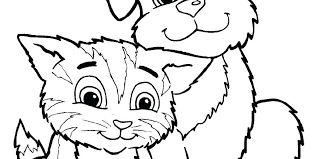 Puppy And Kitten Coloring Pages Plus Puppies Kittens For Kids Adults Quotes