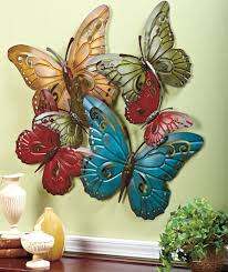 Metal Butterfly Wall Sculpture