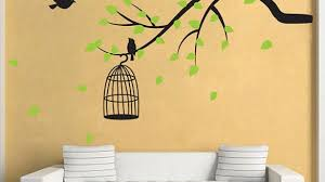 Excellent Ideas Tree Branch Wall Art Plus With Birds Butterfly Vinyl Decal On Diy Copper Pine
