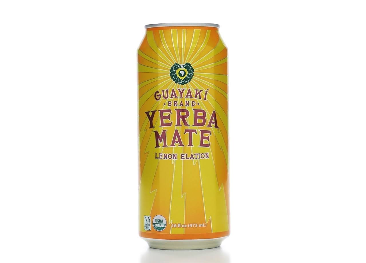 Guayaki Organic Yerba Mate - Lemon Elation, 240ml, Pack of 12