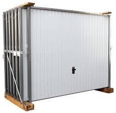 de garage basculante en acier blanc galvanisé 2x2 375 m brico dépôt