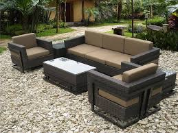 Sears Patio Furniture Monterey by Patio Wicker Outdoor Patio Furniture Gray Rectangle Modern