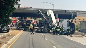 Two Injured When Dump Truck Overturns In Fremont – The Mercury News
