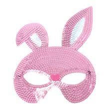 Shinny Lentejuela Máscara De Conejo Mujeres Medio Cara Máscaras De Fiesta Fantasía Bola Cosplay Complementos Para Disfraces Para Pascua Fiestas De