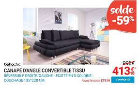 canap d angle rue du commerce bobochic canapé d angle convertible tissu 4 places nestor le