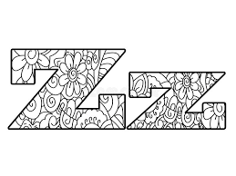 Download Anti Coloring Book Alphabet The Letter Z Vector Illustration Stock