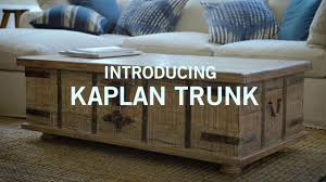 Introducing Kaplan Trunk - YouTube Fniture Trunk End Tables Wicker Pottery Barn Coffee Vintage Table Cart 11090p Thippo Introducing Kaplan Youtube Living Room Medium With Brown For 1000 Ideas About Tray Pavillion Home Designs Rustic I Just Want My House To Look Like The Pink Tumbleweed Splendid Tanner Round Loon