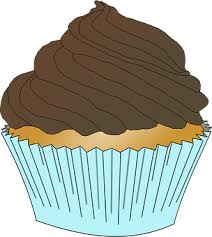Blue Chocolate Cupcake Dessert Frosting Cu