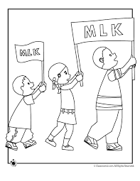 Martin Luther King Parade Coloring Page